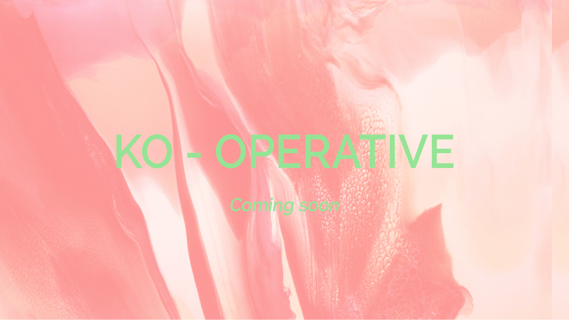 Ko-operative work in progress